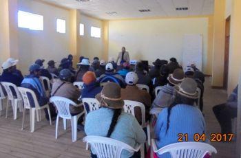 Comunidades Campesinas de Titire, Aruntaya, Jancopuco Validan Informe del Monitoreo Ambiental Participativo 2016 realizado en el Area de Influencia de las Operaciones Mineras – U.P. Tucari – Aruntani S.A.C.