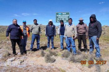 El Comité de Monitoreo Ambiental Aruntani SAC. Realizó la Verificación In Situ de la ubicación de los puntos de Monitoreo Ambiental M-03 y M-04 en el Área de Influencia de Operaciones Mineras U.P. Tucari – Aruntani SAC