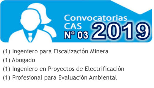 Convocatoria CAS N° 003-2019
